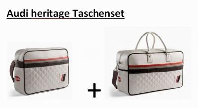 Taschenset, Freizeittasche und Messenger Bag Audi quattro Heritage