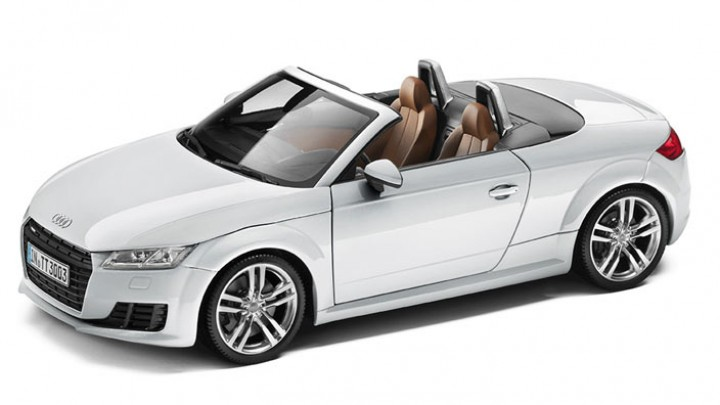 modellauto audi tt roadster 1 18 in gletscherweiss. Black Bedroom Furniture Sets. Home Design Ideas