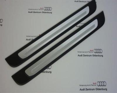 Audi A1 Einstiegsleisten, 2-teilig, Aluminium Ziereinlage