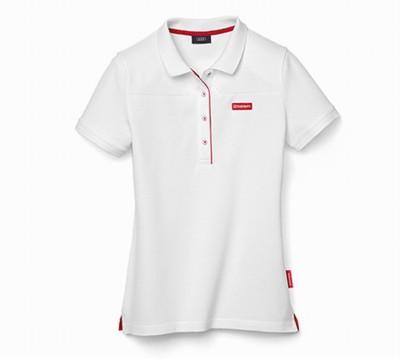 Original Audi Poloshirt für Damen, Audi Sport Polo- Shirt, weiss